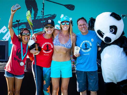 Panda Paddle participants at post-race festival