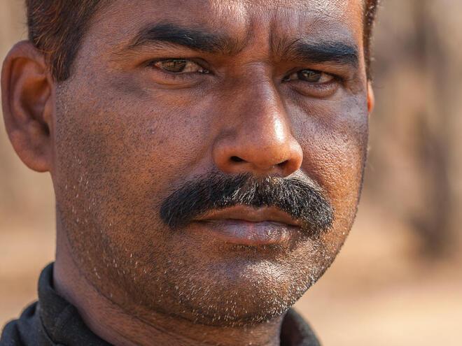 Portrait image of park ranger in Ranthambore National Park, India