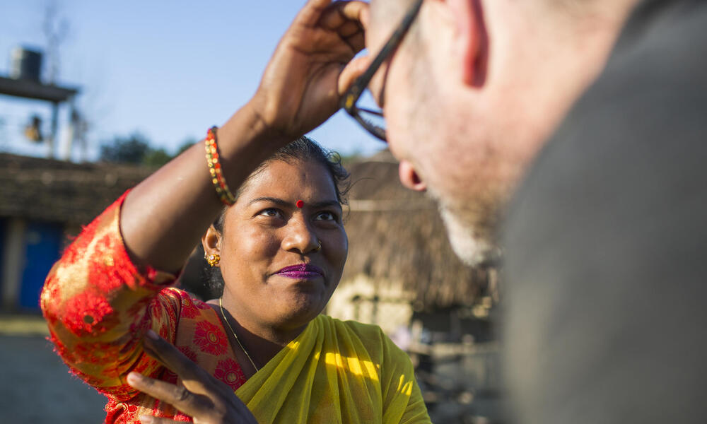 Pratiksha Chaudhary is welcoming tourist at her homestay in Dalla, close to Bardia National Park, Nepal.