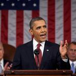 President Obama during a state of the union address