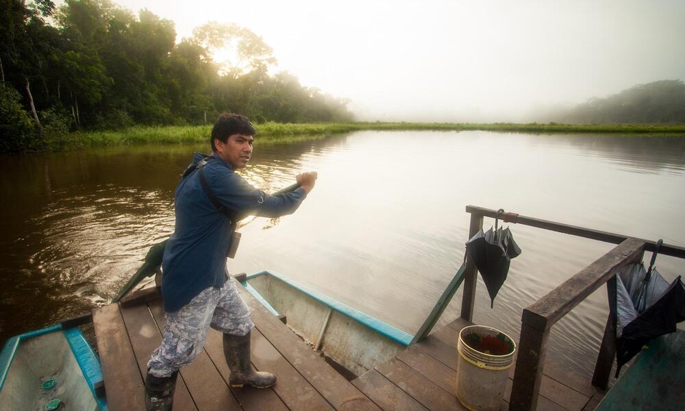 Rainforest Guide Tres Chimbadas Lake, Peru