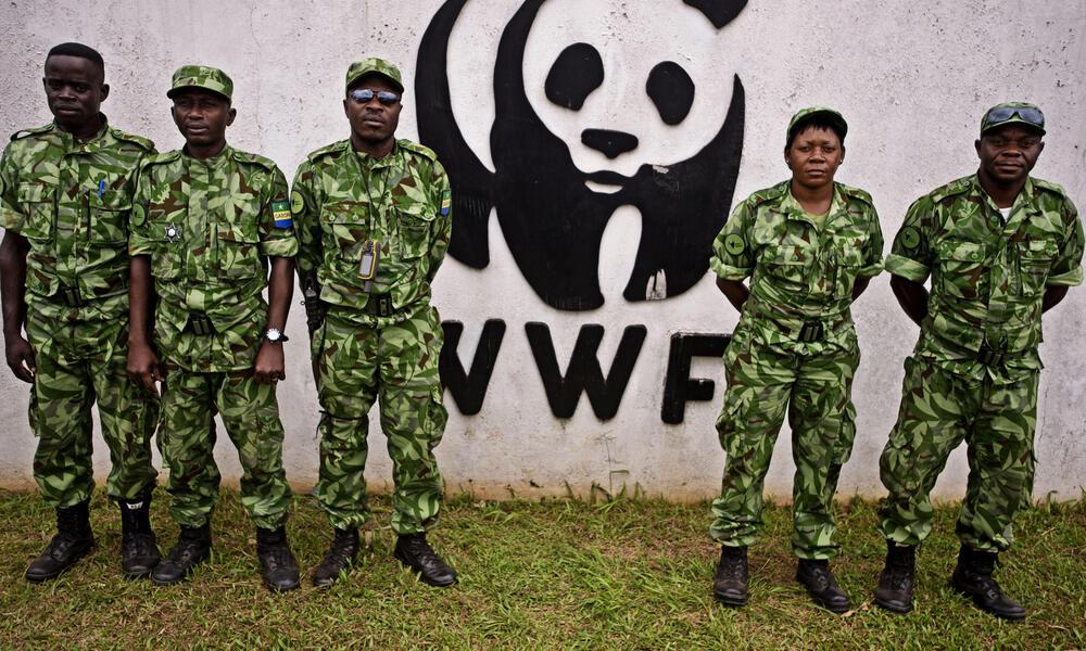 Anti-poaching patrol at the WWF-Gabon office