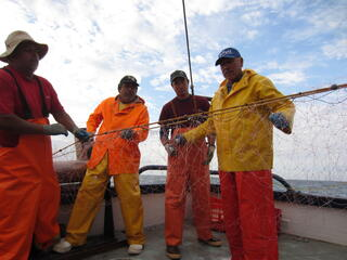 Fishermen with net