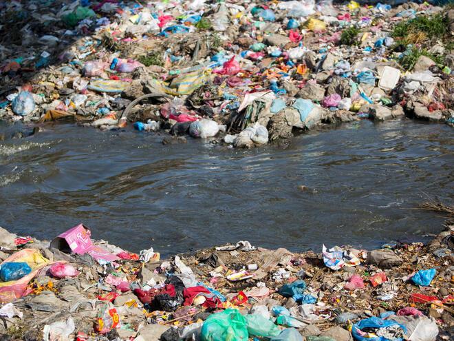 Bagmati river pollution in Nepal