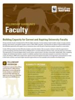 EFN Faculty Fellowship Guidelines 2021 Brochure