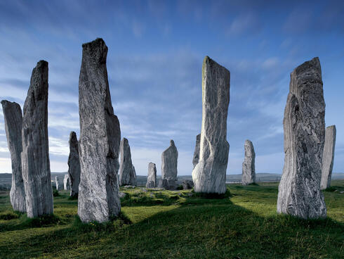 Stone pillars in Shiant Isles, Scotland