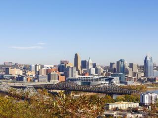 Sunny Cincinnati skyline