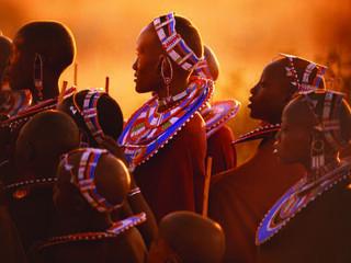 The Maasai people in the East African savanna