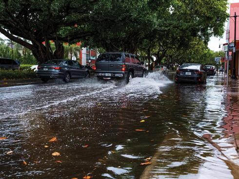 Flood in street