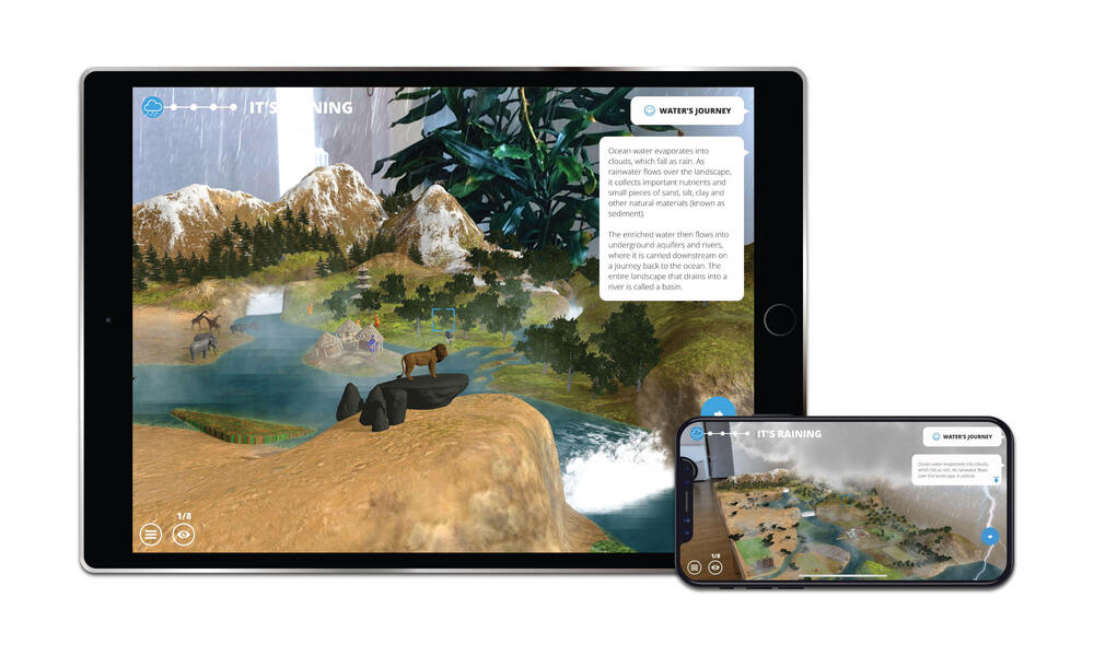WWF Free Rivers App Screenshots - Rain