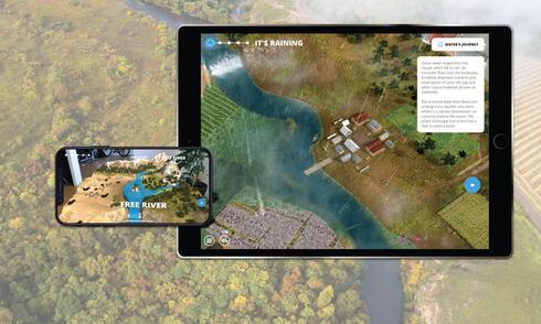 WWF Free Rivers App Hero on ipad and iphone