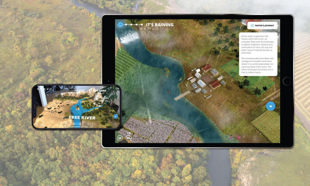 Screenshots from WWF Free Rivers app