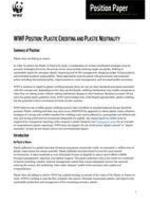 WWF Position: Plastic Crediting and Plastic Neutrality Brochure