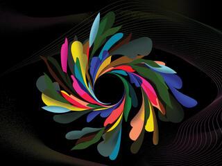 Colorful abstract mandala illustration