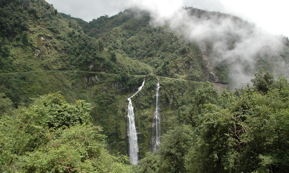 Waterfall in Eastern Bhutan