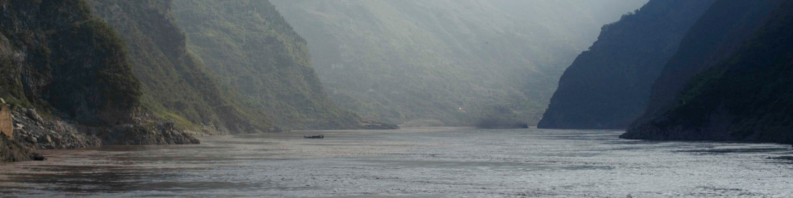 A view of China's Yangtze river and the mountains surronding it