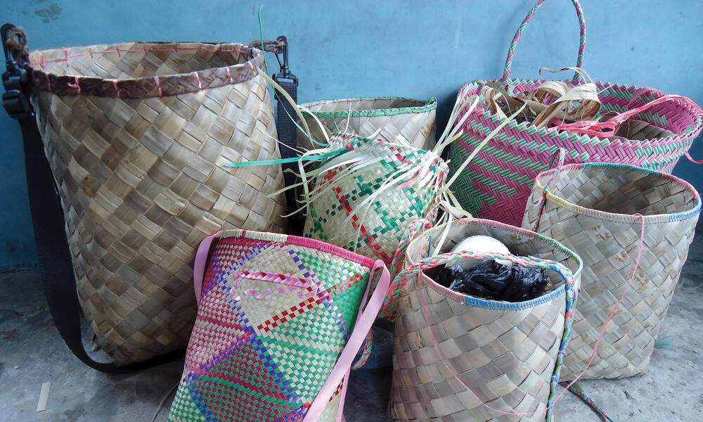 Baskets in Bird's Hair Seascape, West Papua, Indonesia