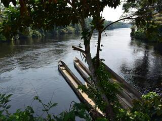 boats in Salonga National Park