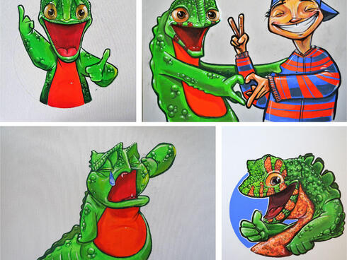 crocodile lizard comic strip