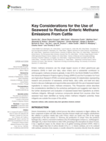 Key Considerations for the Use of Seaweed to Reduce Enteric Methane Emissions From Cattle Brochure