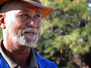 Farmer in Namibia