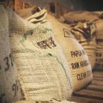 bulk sacks of coffee