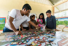 School teacher Jose Jesus Zafiama is from the La Chorrera indigenous community