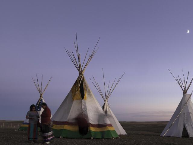 tipis at Fort Peck Indian Reservation