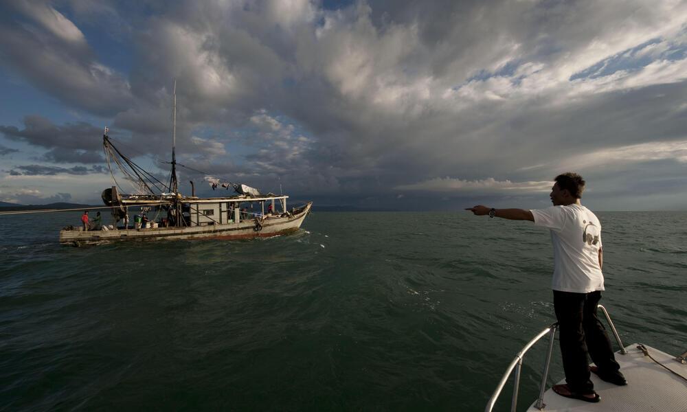 trawler too close to shore