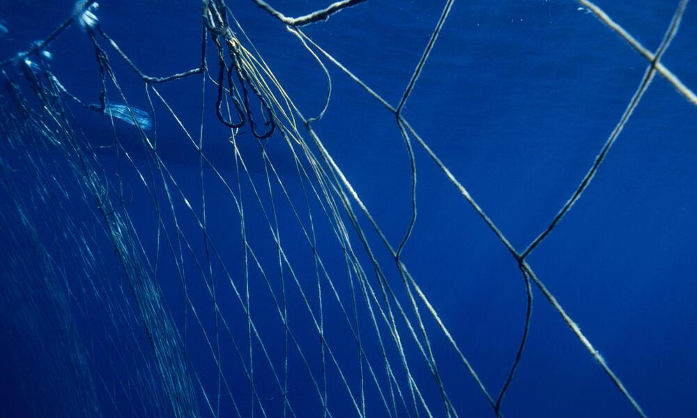 empty fishing net