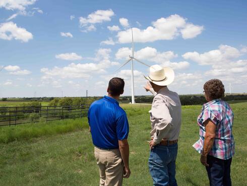 Wind Farm in Muenster, TX