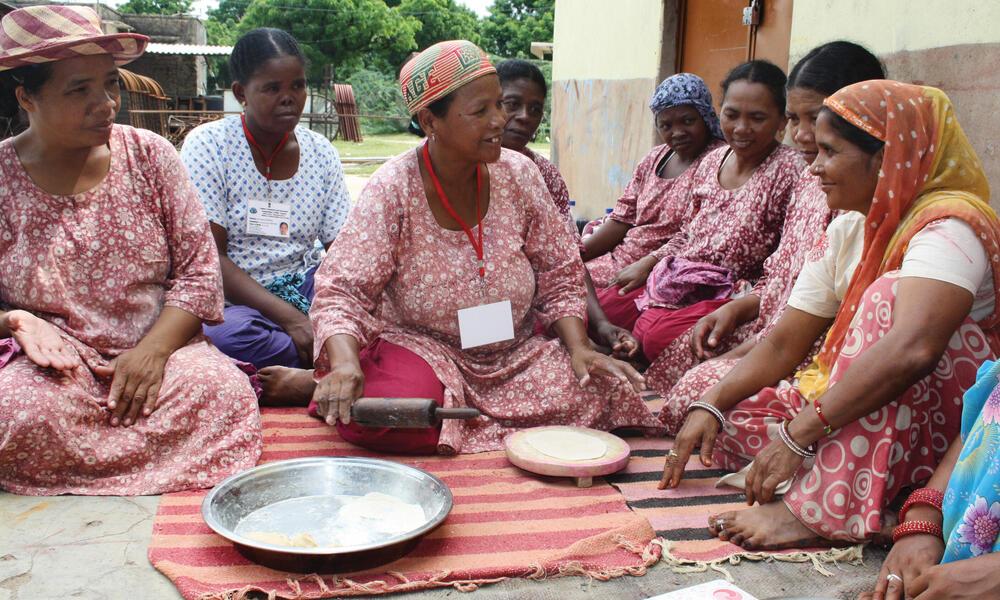 women sitting in madagascar